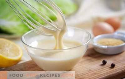 Mayonnaise maigre à la maison - meilleur goût que celui acheté. Diverses recettes de mayonnaise maigre à la maison