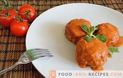 Boulettes de viande avec du riz (étape par étape) - jolies boulettes en sauce. Cuisson de délicieuses boulettes de viande et de poisson avec du riz