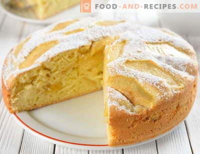Fluffy Charlotte - Les 5 meilleures recettes. Comment bien cuire une charlotte luxuriante avec des pommes et d'autres garnitures.