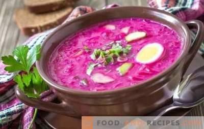 Betterave: une recette étape par étape pour la soupe la plus brillante. Cuisson des betteraves classiques chaudes et froides (recettes étape par étape)