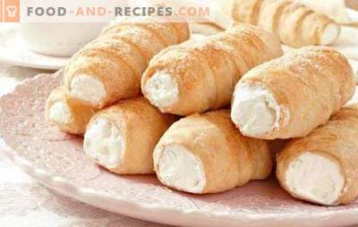 Quiches - doux moments d'enfance. Quelle pâte pour faire des tubes à la crème: des recettes pour la pâte et des crèmes pour votre gâteau préféré