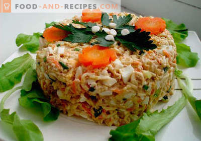 Salade de foie de morue - recettes éprouvées. Comment faire cuire une salade de foie de morue?