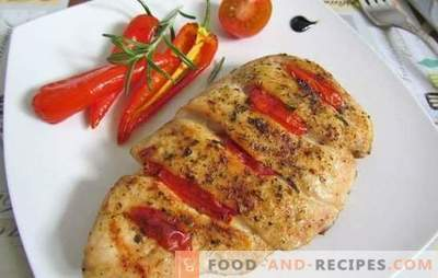Poitrines de poulet aux tomates: Les 10 meilleures recettes de l'auteur. Faire frire, mijoter, cuire la poitrine de poulet avec des tomates