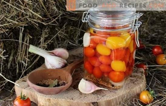 Tomates cerises pour l'hiver - un peu de joie peu vive! Recettes préparations incomparables avec des tomates cerises pour l'hiver