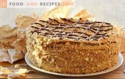 Gâteau Napoléon dans des recettes étape par étape. Variantes d'un gâteau préféré - recettes étape par étape du classique
