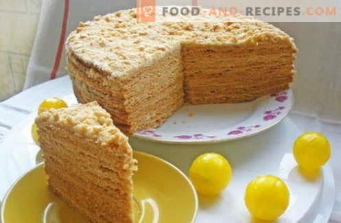 Gâteau au miel - les meilleures recettes. Comment cuire correctement et délicieusement un gâteau au miel.