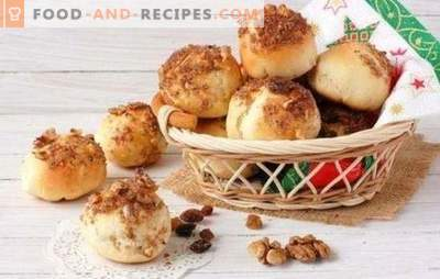 Petits pains de carême - ne refusez pas les collations! Recettes de petits pains maigres aux graines de pavot, raisins secs, cannelle, sésame, pommes de terre