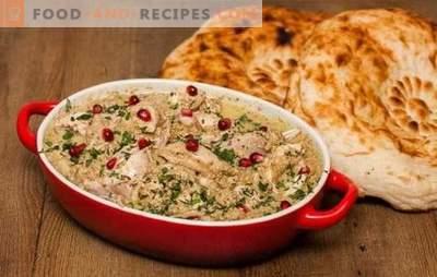 Le Satsivi classique, étape par étape: la technologie du célèbre plat géorgien en détail. Satsivi classique - recette internationale