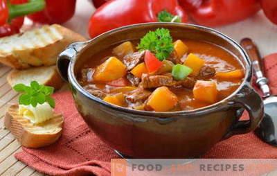 La soupe hongroise est inhabituelle mais savoureuse! Différentes recettes de soupes hongroises: au bœuf, au poisson, aux haricots, aux épinards et aux cerises