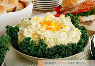Salade aux œufs - recettes éprouvées. Comment faire cuire une salade aux œufs.