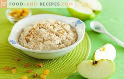 Le secret de la cuisson du porridge dans l'eau. De délicieux plats sains à base de farine d'avoine sur l'eau