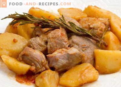 Ragoût de pommes de terre avec de la viande - les meilleures recettes. Comment cuire correctement et savourer des pommes de terre en sauce avec de la viande.