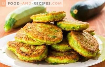 Boulettes de moelle de légumes - savoureuses, rapides, peu coûteuses. Crêpes à la courge dans la casserole et au four
