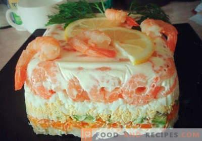 Gâteau à la salade - les meilleures recettes. Comment préparer correctement et délicieusement un gâteau à la salade.