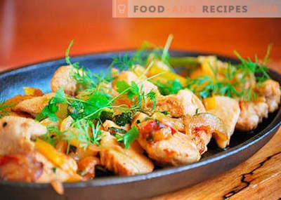 Filet de poulet - les meilleures recettes. Comment cuire correctement et savoureux filet de poulet.