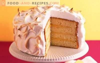 Une génoise à la crème sure est un chef-d'œuvre! Recettes gâteaux biscuit à la crème sure: fruits, noix, etc.