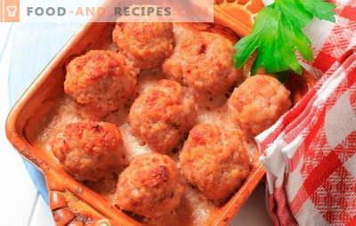 Boulettes de viande au four: viande, fromage, crème. Recettes intéressantes pour des boulettes de viande cuites au four