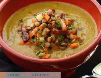 Soupe aux lentilles - les meilleures recettes. Comment bien et savoureux cuire la soupe aux lentilles.