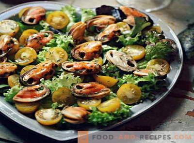 Salade de moules - les meilleures recettes. Comment cuire correctement et savoureux salade de moules.