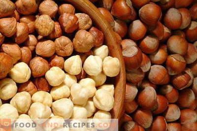 Haselnüsse - nützliche Eigenschaften und Verwendung beim Kochen. Rezepte mit Haselnüssen.