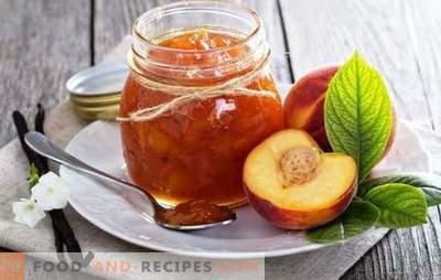 Conserves de nectarine - le goût aromatique de l'été. Recettes pour la confiture de nectarine: traditionnelle, avec café, vanille, cannelle
