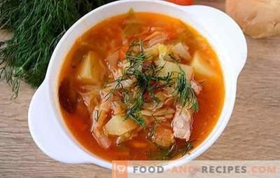 Soupe au chou frais dans une mijoteuse: rapide, facile, savoureuse! Photo-recette pas à pas de l'auteur pour la cuisson du chou à partir de chou frais dans une mijoteuse