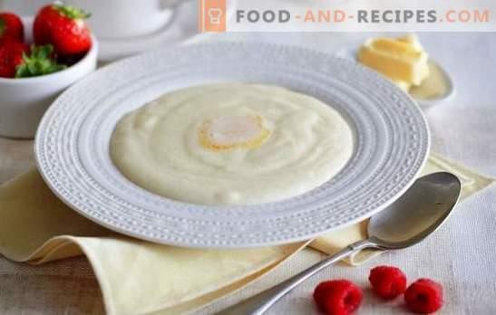 Bouillie de semoule sur le lait - bonjour! Comment faire cuire la semoule dans le lait pour que la bouillie soit savoureuse et sans grumeaux