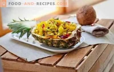 Poulet à l'ananas: des recettes étape par étape et en détail, avec toutes les astuces. Poulet juteux à l'ananas (description étape par étape)