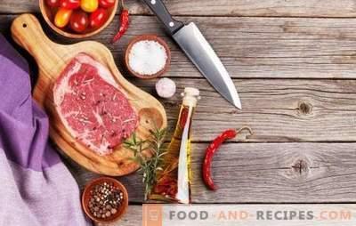 Quelles épices sont nécessaires pour la viande et qui ne peuvent en aucun cas être utilisées?