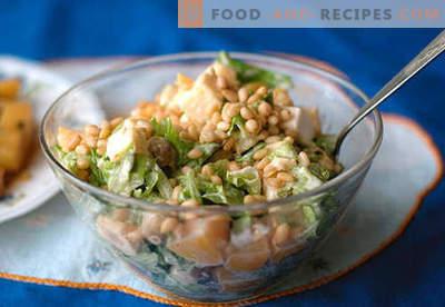 Salade aux pignons - les meilleures recettes. Comment bien et savoureux préparer une salade avec des pignons de pin.