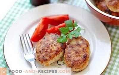 Les côtelettes de porc et de poulet peuvent être cuites sur le feu et dans la casserole! Recettes pour côtelettes de poulet et de porc juteux et rouge