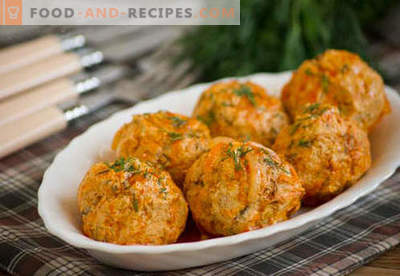 Chicken meatballs - proven recipes. How to properly and tasty cooked chicken meatballs.