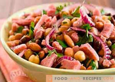Salade de haricots et jambon - les meilleures recettes. Comment bien et savoureux faire cuire une salade de haricots avec du jambon.