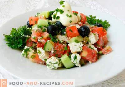 Salade aux olives - une sélection des meilleures recettes. Comment bien et savoureux faire cuire une salade aux olives.