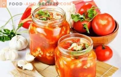 Salade de tomates pour l'hiver avec stérilisation: facile! Recettes de différentes salades de tomates pour l'hiver (avec stérilisation)