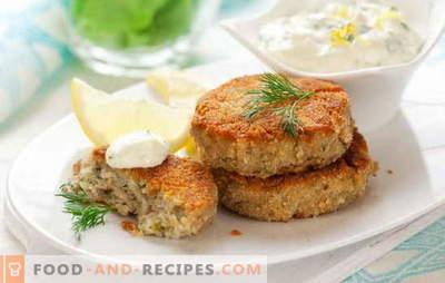 Délicieuses côtelettes de morue - toute la famille sera ravie! Une sélection de recettes pour de délicieuses côtelettes de morue: frites, cuites à la vapeur, au four
