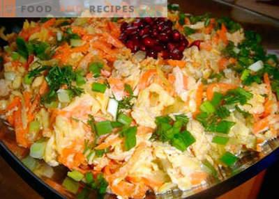 Salade de chanterelle - les meilleures recettes. Comment cuire correctement et savoureuse salade