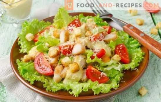 Salade César à la mayonnaise: du plus simple au plus exquis. Comment cuisiner une délicieuse salade César avec mayonnaise