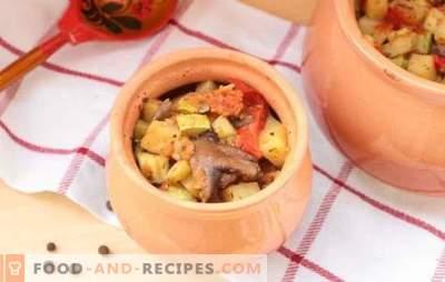 Ragoûts dans la casserole au four: recettes et secrets. Comment faire cuire les légumes, la viande, le ragoût de champignons dans des casseroles au four