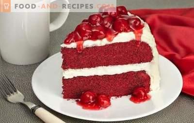Le gâteau au velours rouge est un régal brillant et savoureux. Les meilleures recettes du fameux gâteau