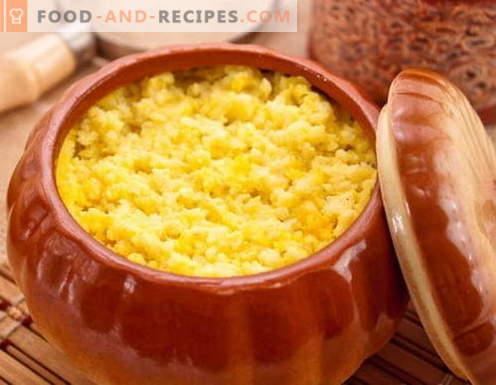 Bouillie de citrouille - les meilleures recettes. Comment bien et savoureux cuire la bouillie de citrouille.