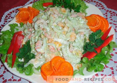 Salades originales - une sélection de recettes. Salades originales pour la table de fête et pour tous les jours.