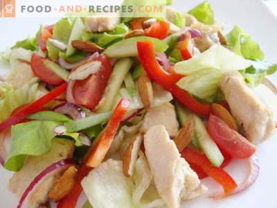 Salade de poulet et concombre - les meilleures recettes. Comment bien et savourer pour préparer une salade au poulet et concombres.