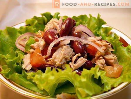 Salade aux haricots - les meilleures recettes. Comment bien et savoureux salade cuite avec des haricots.