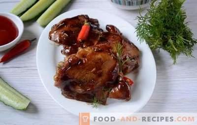 Poulet frit à la sauce de soja dans une casserole - pendant 20 minutes! La recette pas à pas de l'auteur pour du poulet frit diététique à la sauce de soja