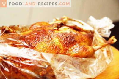 Canard dans la manche - les meilleures recettes. Comment bien et savoureux cuire un canard dans la manche.