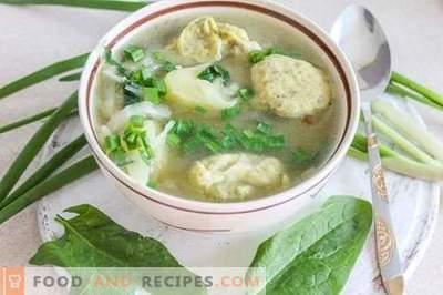 Soupe de légumes aux raviolis - satisfaisante et saine!