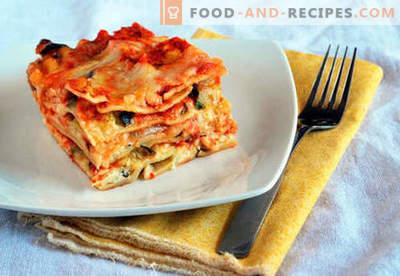 Lasagne classique - les bonnes recettes. Comment cuire rapidement et savourer des lasagnes classiques.