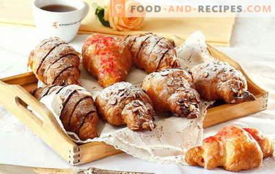 Croissants pour pâte feuilletée - à cause de la monotonie! La plus délicieuse garniture sucrée-salée pour les croissants de la pâte feuilletée