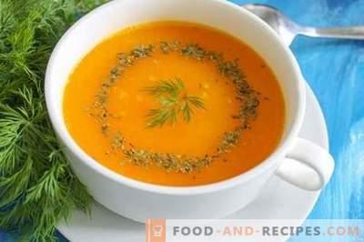 Soupe de purée de potiron - une ambiance brillante à tout moment de l'année. Recette pas à pas avec photo: soupe à la citrouille, différentes options